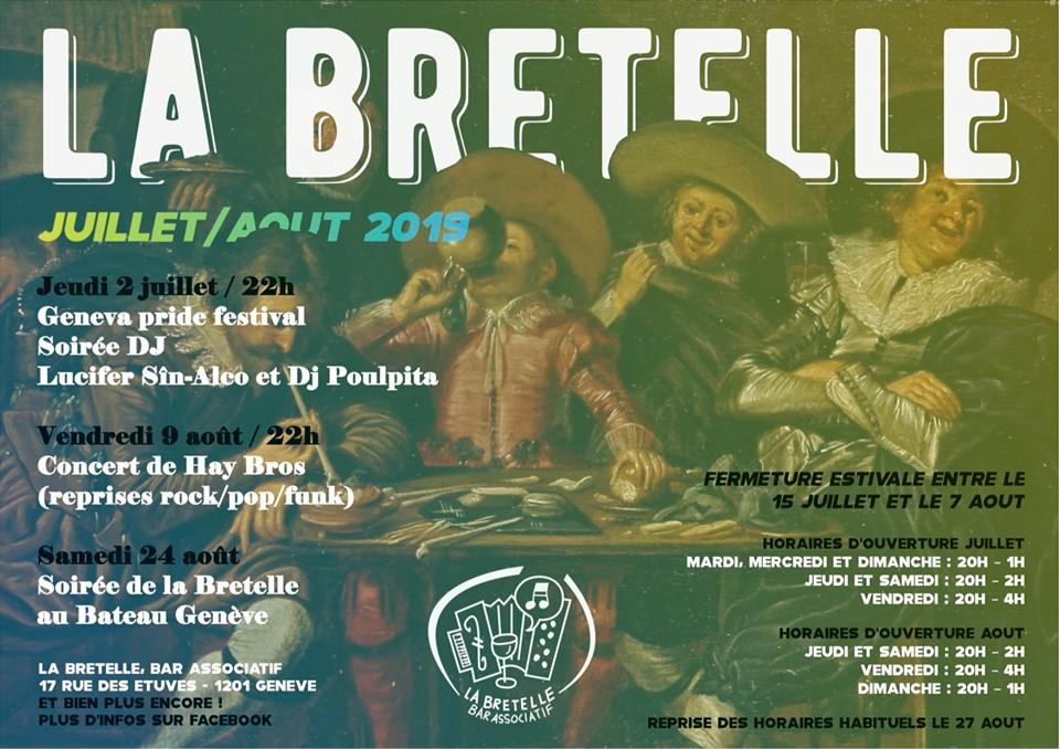 Juillet & août 2019 à la Bretelle, Genève