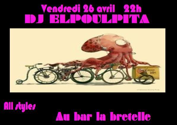 Dj elpoulpita à La Bretelle, bar associatif à Genève