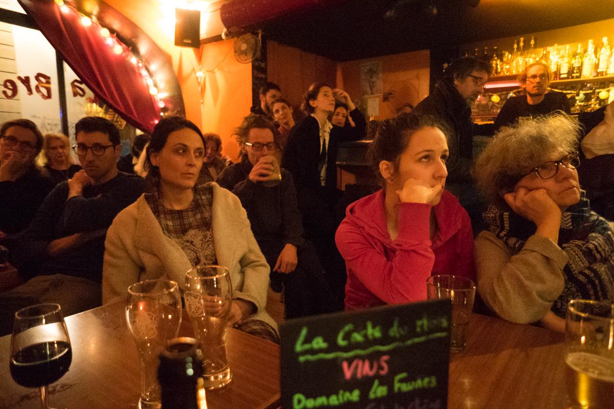 Public et potes à la Bretelle · jan. 2018 · Olive