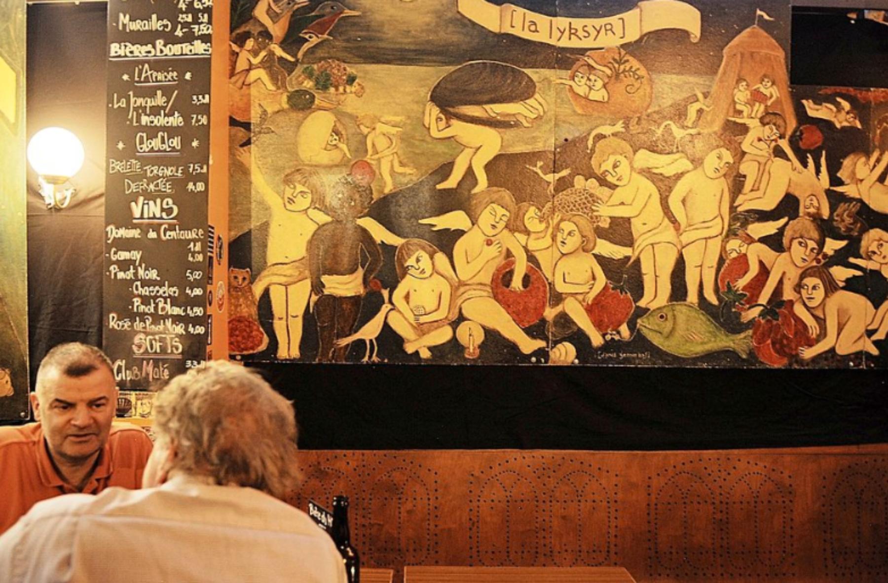 La Bretelle, bar associatif, 40 ans,Tribune de Genève, 26 novembre 2019, fresque, festif