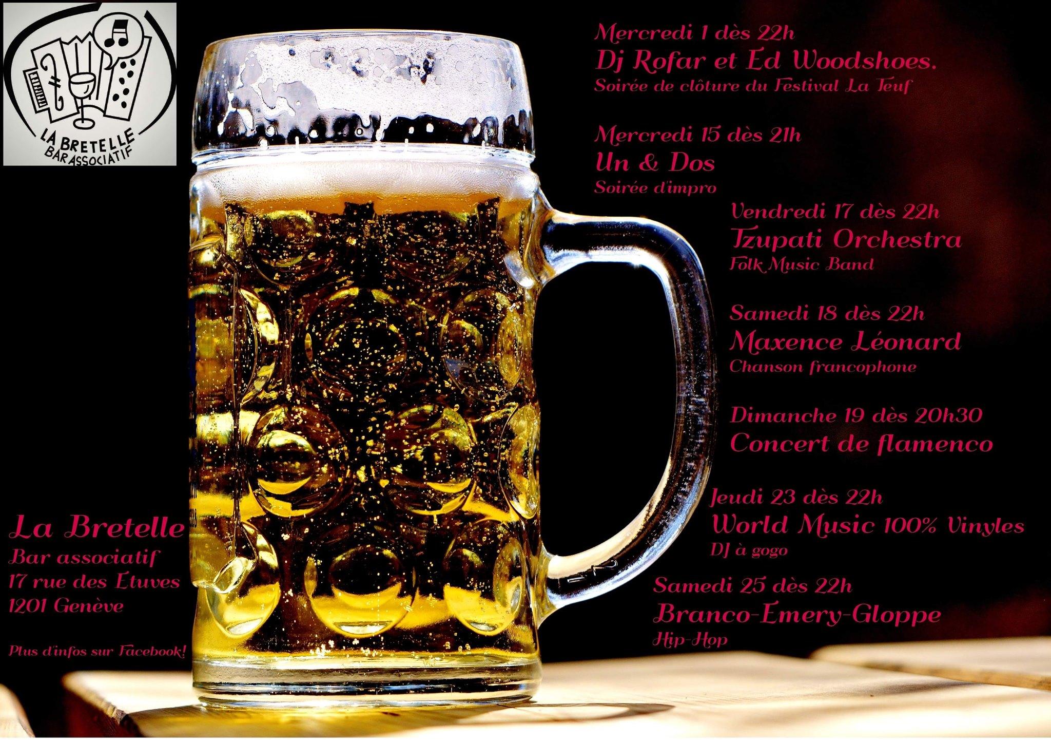 janvier 2020 à la Bretelle, bar associatif, Genève